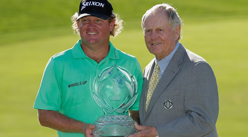 Will McGirt with Jack Nicklaus and trophy