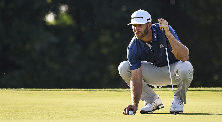 Dustin Johnson at the 2016 US Open