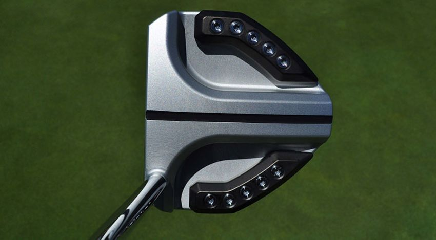 """PXG's new milled insert putter line comes in 11 different models, including the large """"Gunboat"""" look. (Jonathan Wall/PGA TOUR)"""