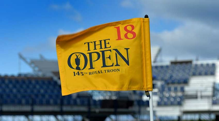 Open pin flag at Royal Troon