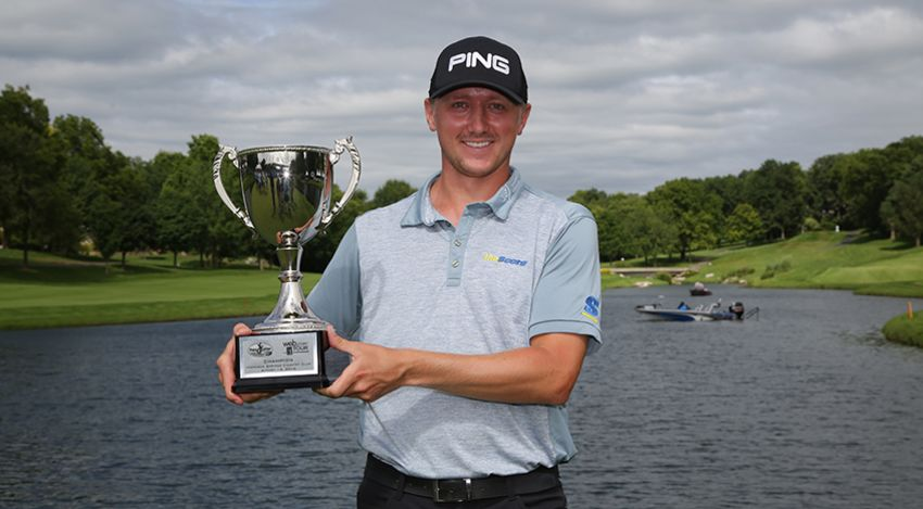 Mackenzie Hughes is one of two players who won the Mackenzie Tour Order of Merit to win on the Web.com Tour in consecutive weeks. Hughes is in Portland this week