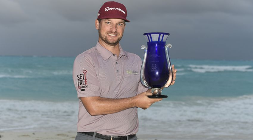 After battling the weather again during the final round of the Bahamas Great Exuma Classic, Kyle Thompson emerges victorious. He finished 2-under, the only player under par for the tournament.