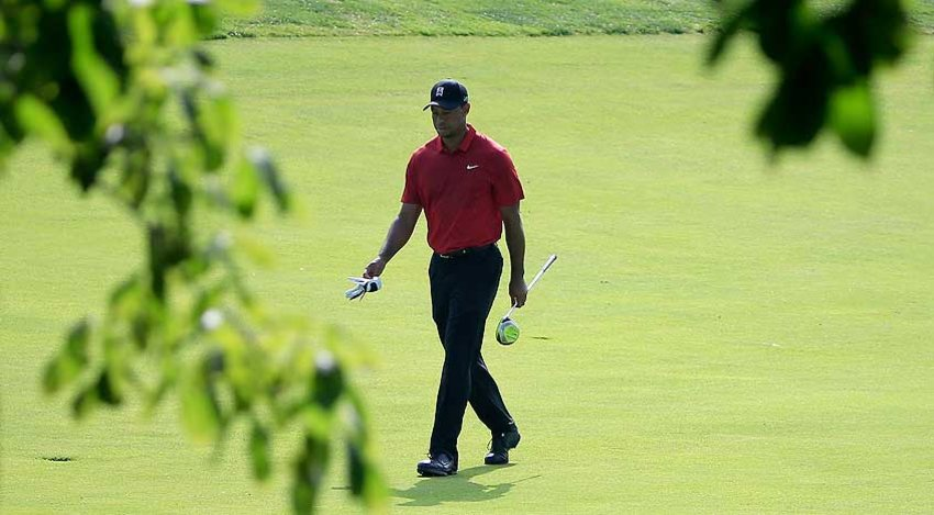 Tiger Woods carded a 74 Sunday at Muirfield Village, a day after his career-high round of 85. (Sam Greenwood/Getty Images)