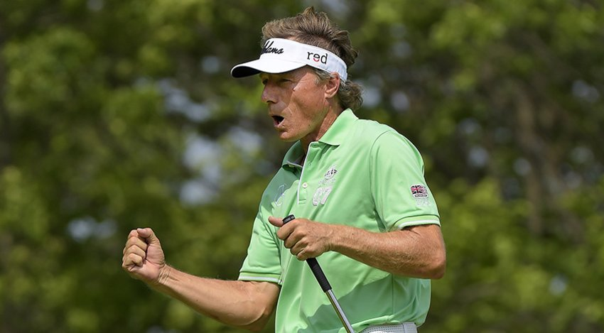 Bernhard Langer drains another one