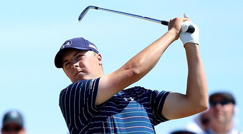 Jordan Spieth hit 55 of 72 greens in regulation at Chambers Bay. (Andrew Redington/Getty Images)