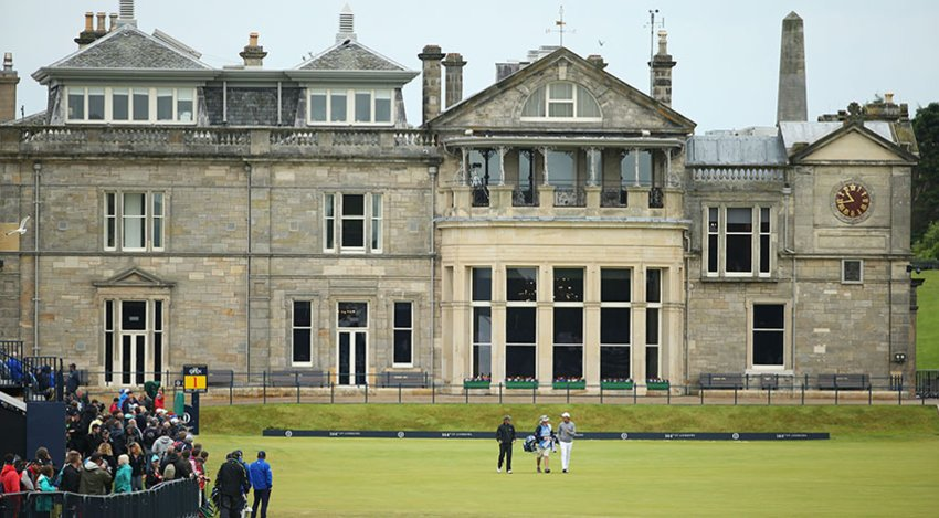 The clubhouse at St. Andrews