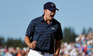Jordan Spieth gets a bit animated